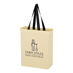 Customized Natural Cotton Canvas Grocery Tote Bag