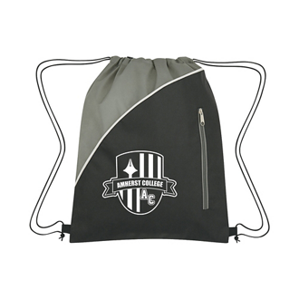 Customized Non-Woven Drawstring Pack with Front Zipper