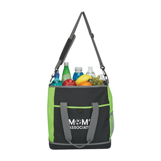 Customized Hard Bottom Shopping Kooler Tote Bag