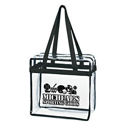 Customized Clear Tote with Zipper