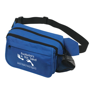 Customized Happy Travels Fanny Pack