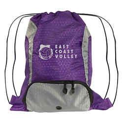 Customized Purple Drawstring Sports Pack