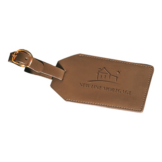 Customized Sueded Leather Grand Central Luggage Tag