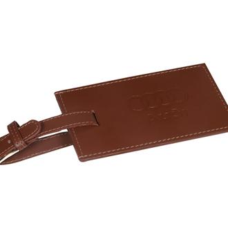 Customized Leeman Whitney Rectangular Leather Luggage Tag
