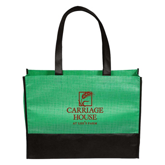 Customized Two-Toned Grayson Tote Bag
