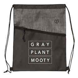 Customized Two-Toned Grayson Heathered Drawstring Bag