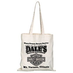 Customized Natural Convention Tote with Shoulder Strap