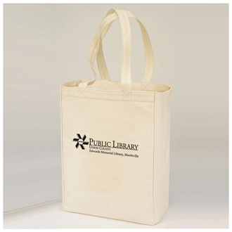 Customized Natural Shopping Tote with Gusset