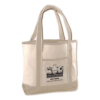 Customized Natural Deluxe Tote Bag