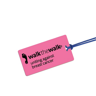 Customized Rectangular Neon Luggage Tag