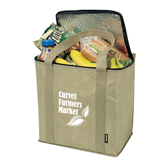 Customized Koozie® Zippered Insulated Grocery Tote