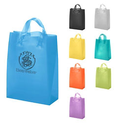 Customized Tulip Frosted Shopper Tote 10 x 13