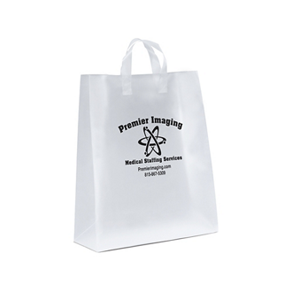 Customized Emmett Frosted Shopper Tote 16 x 19