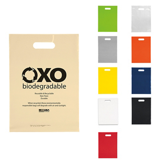 Customized Oxo-Biodegradable Die Cut Bag - 11 x 15