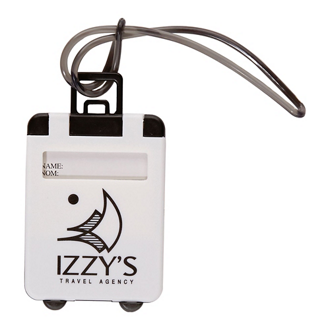 Customized Plastic Luggage Tag with Strap
