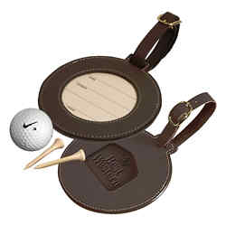 Customized Leeman Woodbury Round Golf Tag