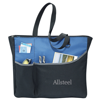 Customized Metropolis Zippered Meeting Tote