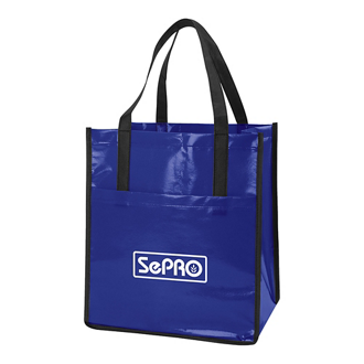 Customized Non-Woven Slick Shopper Tote