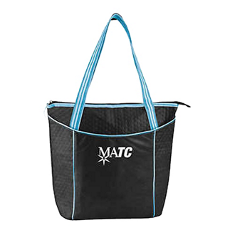 Customized Non-Woven Striped Cooler Tote