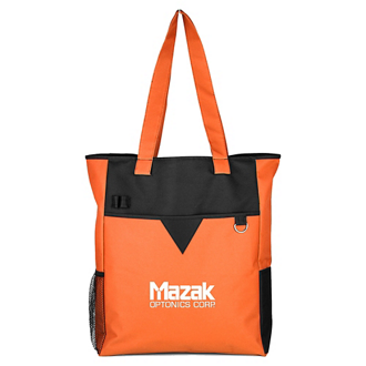 Customized Center Divider Zip Top Tote