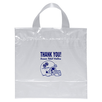 Customized Clear Plastic Tote Bags with Handles for NFL Games