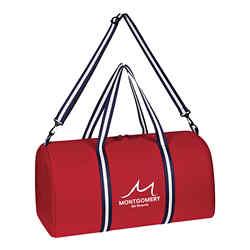 Customized Striped Handle Duffel Bag