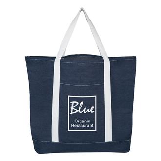 Customized Denim Shopping Tote Bag