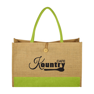 Customized Jute Box Tote Bag