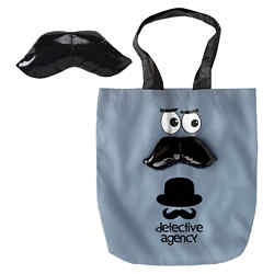 Customized Mustache Convertible Tote Bag