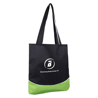 Customized Color Curve Accent Panel Tote Bag