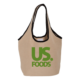 Customized Soft Touch Juco Shopper Bag