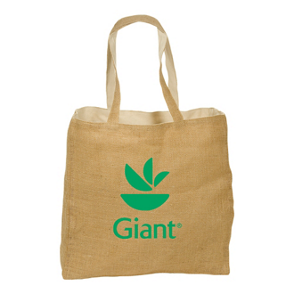 Customized Reversible Jute/Cotton Tote Bag