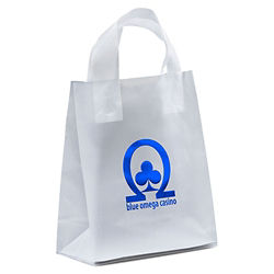 Customized Mars Frosted Plastic Bag-Loop Handles 8