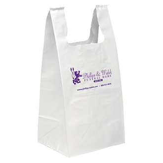 Customized Jumbo Large Bottom T-Shirt Style Flexo Bag