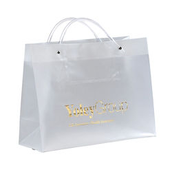 Customized Pres Frosted Plstc Bag-Clear Tube Handles 13