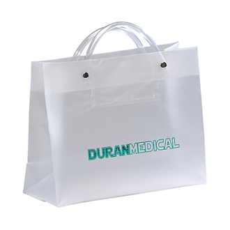Customized Vp Frosted Plastic Bag-Clear Tube Handles 10