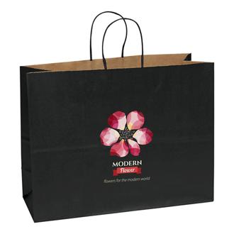 Customized Judy Matte Paper Shopper 16