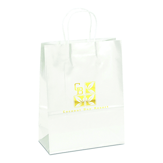 Customized Amber-White Paper Bag