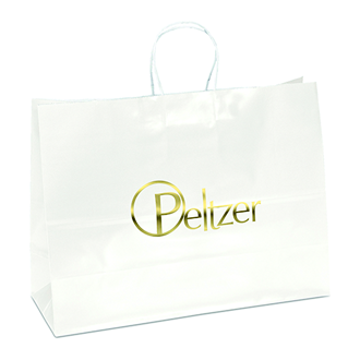 Customized Aubrie-White Paper Bag