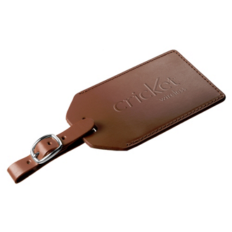 Customized Grand Central Leather Luggage Tag