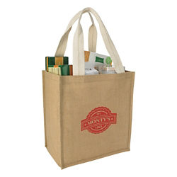 Customized Good Value™ Jute Grocery Tote Bag
