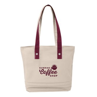 Customized Cotton Pleated Tote Bag