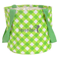 Customized Large Printed Round Utility Tote Bag