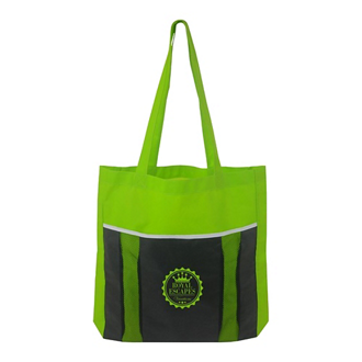Customized Poly Pro Accent Mesh Pocket Tote Bag