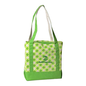 Customized Printed Small Accented Boat Tote Bag