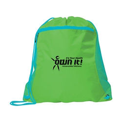 Customized Duo Colour Mesh Pocket Sport Pack Backpack