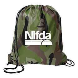 Customized Camo Drawstring Backsack