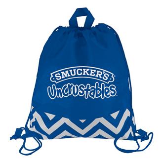 Customized Zig Zag Drawstring Backpack