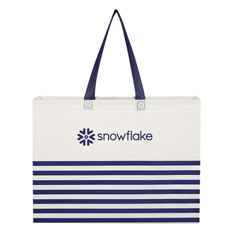Customized Horizontal Stripe Tote Bag