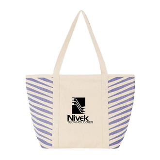 Customized Zebra Coloured Cotton Tote Bag